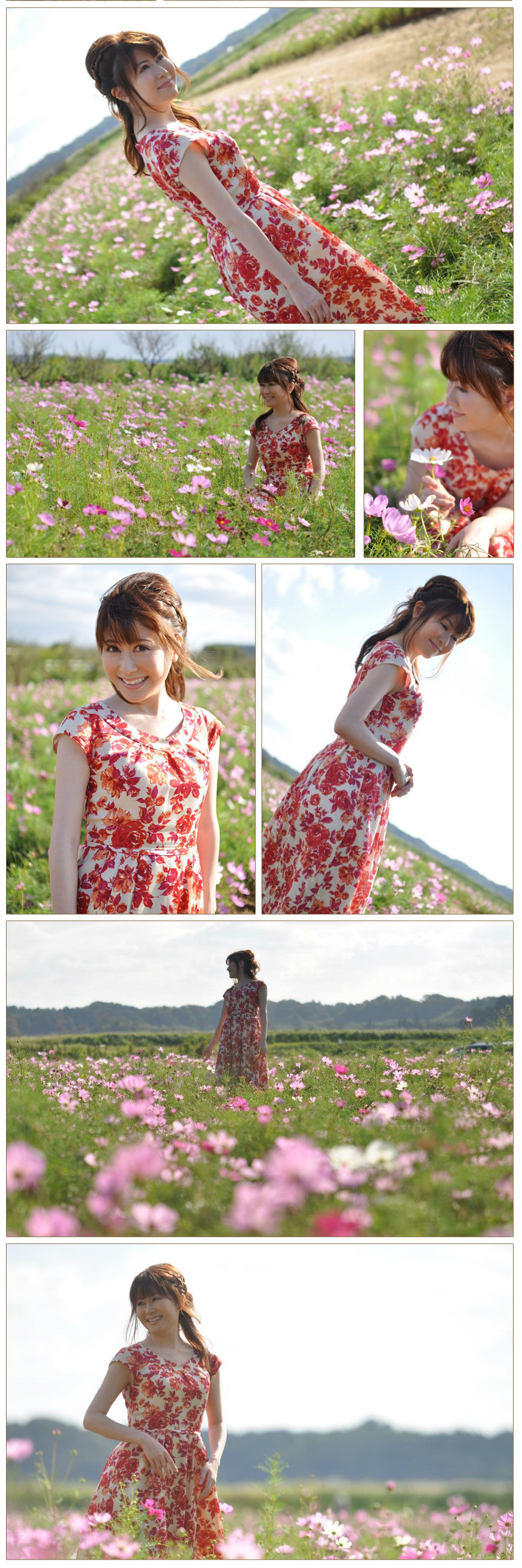 Red dress Flower Garden